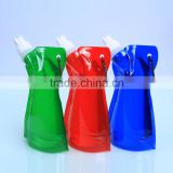Customized 16oz water bottle sport foldable water with carabiner                                                                                                         Supplier's Choice
