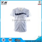 Plain shirts mesh men's fashion pinstripe baseball jersey