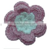 crochet flower Sew On Crochet Patch, Flower Applique Sewing Notion