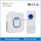 Forrinx Wireless Doorbell Strong Blue LED Light Flashing 52 Rings 300M Range Waterproof IP55 Push Button with Name Plate