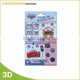 Factory Supply Customized toy gifts 3D adhesive puffy stickers for kids                                                                         Quality Choice