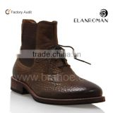 Coffee color leather boot, cool men boot, ankle chelsea boot for men