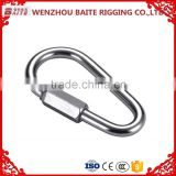 Chinese factory price Stainless Steel egg pear shaped quick link