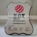 High quality new style trophy souvenir award wooden plaque blank natural wood color