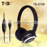 Factory directly offer China products cheap overhead mega bass headphones for computer tablet laptop game