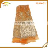 High quality african bridal french swiss volie tulle lace fabric embroidery for wedding dress