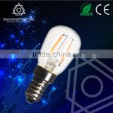 1W E12 ST26 T25 LED filament light bulb dimmable glass ST26 bulb filament 360 clear ce rohs