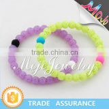 2015 New Best Selling Multi Color Bead Bracelet Custom Silicone for Kids Made in Yiwu Market