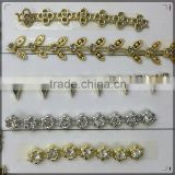 2016 New Model Decorative Gold Chain.ABS Plastic Chain For Clothes And Shoes.fashion bracelet gold hand chain fashion design