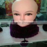 Beautiful purple fur hat with neck cover function