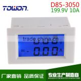Dual LCD display DC Voltage and current meter voltmeter ammeter range DC 0-199.9V 0-10A Blue backlight