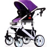 High View Folding Baby Stroller,adopt Non-Pneumatic Tire Wheel, Free Use in Winter to Summer.Easy Replacing Armrest
