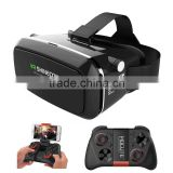 Shinecon VR Virtual Reality 3D Glasses Headset Oculus Rift Helmet Video for 3.5'-6.0' Smartphone Google Cardboard DK2 + Gamepad
