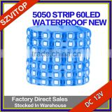 BLUE LED Light Strip 5050 60LED Per meter 5meter a roll PC Board PU Waterproof DC12V Brand New