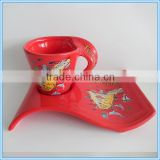 tourist souvenir ceramic snack plate and cup
