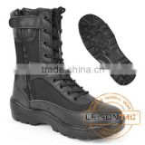 Tactical Boots with Zipper adopts cowhide full grain leather and Cordura with injection molding or cemented technology