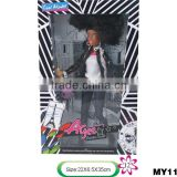 "Popular plastic American girl 12"" doll wholesale new American doll black doll for kids 12inch black doll"