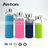 350-500ml high borosilicate glass tea bottle water bottle with infuser handmade glassware OEM