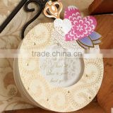 Exquisite handmade circular sterero shape of heart pattern greeting card/photo frame