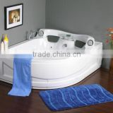SUNZOOM corner bathtub with pillows,modern colored bathtubs,jet bath spa
