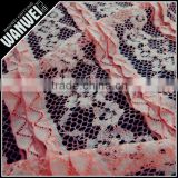 nigeria design cord lace fabric very popular color teal orange guipure lace viscose nylon elastane fabric A-118