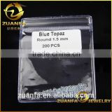 hot sale alibabagolden gemstones supplier round brilliant cut small size london blue topaz beads