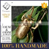 home decor metal insects beetle in gold
