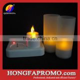 Christmas floating light led rechargeable candle with frosting cup