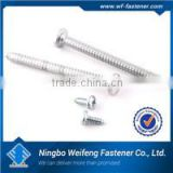 Ningbo Fastener supply stainless steel pan head self tapping screws with zinc plated China manufacturers suppliers exporters