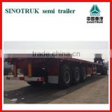 2016new high quality low price China factory 20ft 40ft 3axle container flatbed semi trailer for sale