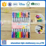 2016 Promotional 10 colors drawing water color pen with double markers for kids