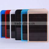 2600mah High Capacity Portable solar Rechargeable USB Power Bank External Battery Charger Pack for cellphone