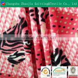 High quality red and white knitted printd fabric and textile fabric