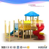 Kids Outdoor Wooden Fitness Equipment,Plastic Slide, Swing Playground                                                                         Quality Choice