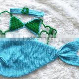 Wholesale custom coloful handmade crochet mermaid tails for baby photography props #1