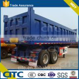 china tandem bogie axle dump semi trailer, square box tipping truck trailer, CITC double axle tipper semi trailer 30 tons