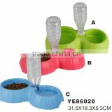 Water Capacity Control 2 Ways Use Non Toxic Plastic Pet Bowl