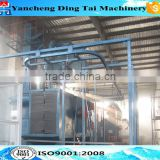 Q38 series hanger clain type shot blasting machine/hanger pass through shot blasting machine