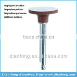 Ar104M Brown RA Shank Low Speed Wheel Silicone Rubber Prophylaxis Polisher For Polishing Ceramic Dental Equipment Used
