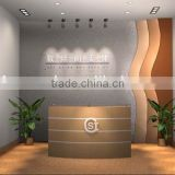Chinese factory wooden checkout counter cabinet display store design with Logo