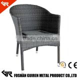 GR-R11006 used rattan patio dining table and banquet chair with garden rattan dining chair