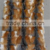 Genuine Cross Fox Fur Skin Plate / Wholesale Fox Fur Blanket