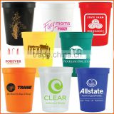 Promotional Eco-friendly Fluted 16OZ Plastic Stadium Sport Drinking Cups Personalized with Your Logo