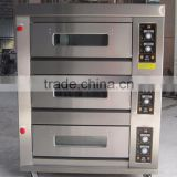 Good quality 3 Deck 6 Trays Gas Commercial Baking Oven                                                                         Quality Choice