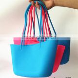 Fashionable Eco-friendly Lady Tote Handbag Waterproof Silicone Beach Bag, Good Quality Waterproof Silicone Beach Bag