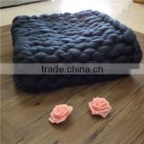 rustic home decor Hand Knitted Chunky extra soft throw blanket