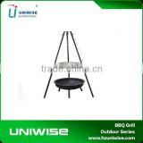 Cast Iron Fire Pit With Cooking Grill for Charcoal Burning, charcoal grill for garden fire pit