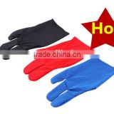 High Quality Durable Nylon 3 Fingers Glove for Billiard Pool Snooker Cue Shooter Black