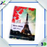 2016 Popular Promotional Gift Item PP Cover 3D Lenticular Spiral Notebook                                                                         Quality Choice