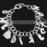 Direction 1D Silver Heart Charm infinity Bracelet Bangle Jewellery wholesale